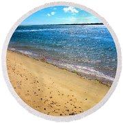 Nantucket Sound - Y1 Round Beach Towel