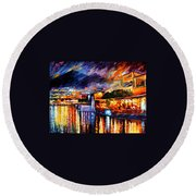 Naples - Vesuvius Round Beach Towel