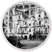 Naples Italy - C 1901 Round Beach Towel