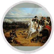 Napoleon In Wagram Round Beach Towel
