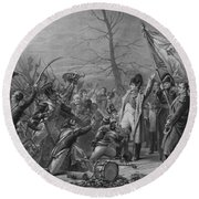 Napoleon Returns From Elba Round Beach Towel
