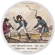 Napoleon: Russian Campaign Round Beach Towel