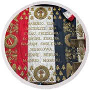 Napoleonic Flag Round Beach Towel