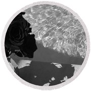 Narcissitic II Round Beach Towel