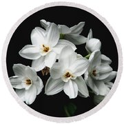 Narcissus The Breath Of Spring Round Beach Towel