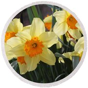 Narcissus Fortissimo Round Beach Towel
