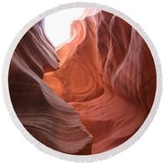 Narrow Canyon Xvii Round Beach Towel