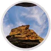 Narrows Sky Zion National Park Utah Round Beach Towel
