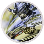 Nash Hood Ornament Round Beach Towel