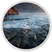 Nash Point South Wales Round Beach Towel