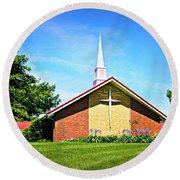 Nashville Baptist Church Round Beach Towel