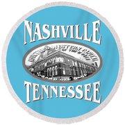 Nashville Tennessee Design Round Beach Towel