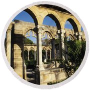 Nassau Cloisters Round Beach Towel