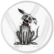 Nasty The Dog Round Beach Towel