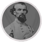 Nathan Bedford Forrest Round Beach Towel by War Is Hell Store