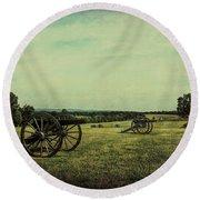 National Battlefield Park - Manassas Va Round Beach Towel