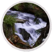 National Creek Falls 03 Round Beach Towel