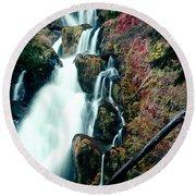 National Creek Falls 07 Round Beach Towel