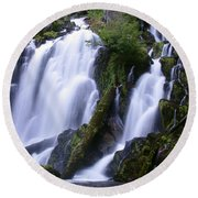 National Creek Falls 09 Round Beach Towel