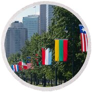 National Flags Of Various Countries Round Beach Towel