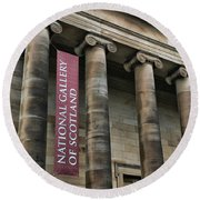 National Gallery Of Scotland  Round Beach Towel