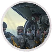 National Guard Special Forces Await Round Beach Towel