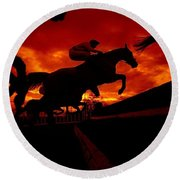 National Hunt, Ireland Round Beach Towel