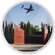 National Medal Of Honor Memorial Fly Over Round Beach Towel