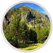 National Park Mountain Round Beach Towel