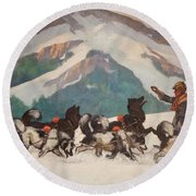 National Park Service - North Country Round Beach Towel