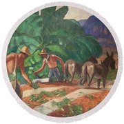 National Park Service - Tropical Country Round Beach Towel