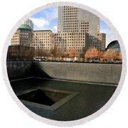 National September 11 Memorial New York City Round Beach Towel