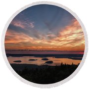 National Sunrise Round Beach Towel