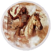 Native American 093201 Round Beach Towel