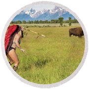 Native American Darcy 3 Round Beach Towel
