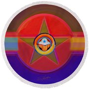 Native American Decal Round Beach Towel