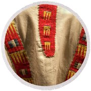 Native American Great Plains Indian Clothing Artwork 09 Round Beach Towel