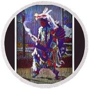 Native American - Male Fancy Dancer #4 Round Beach Towel