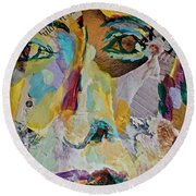 Native American Reflection Round Beach Towel
