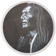Native American Round Beach Towel