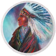 Native Blessings Round Beach Towel
