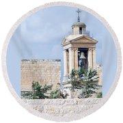 Nativity Church Bells Round Beach Towel