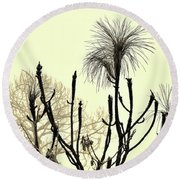 Natural 2 13b Round Beach Towel