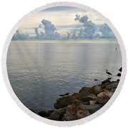 Scapes 7 17 Round Beach Towel