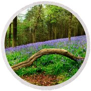 Natural Arch And Bluebells Round Beach Towel