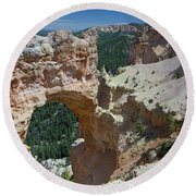 Natural Arch Bryce Canyon - Utah Round Beach Towel