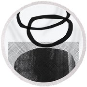 Natural Balance- Abstract Art Round Beach Towel