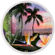 Natural Beauty Round Beach Towel