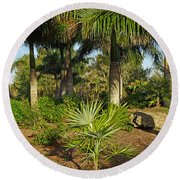 Natural Beauty Of Florida Round Beach Towel