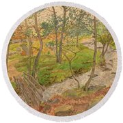 Natural Beauty Of Grindleford Round Beach Towel